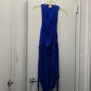 Haute Hippie Royal blue silk dress